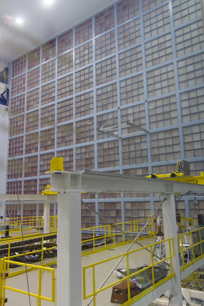 JWST High Bay Cleanroom Filter Wall