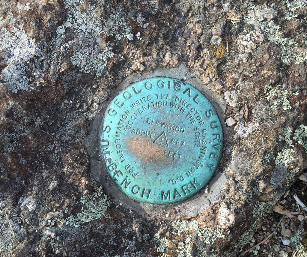 USGS Benchmark at the summit of Cole Mountain